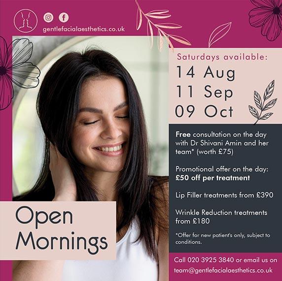 Gentle Facial Aesthetics Open Mornings